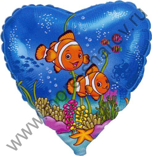 "Шар ""Рыбки-клоуны"" 46 см"