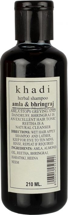 Шампунь против перхоти и седины Кхади Амла&Бринградж / Khadi Amla&Bhringraj Shampoo