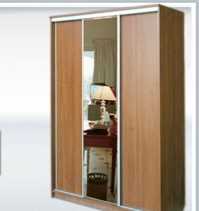 Шкаф-купе 3х дверный №2 с зеркалом