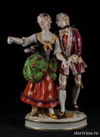 Танцующая пара, E & A Muller, Германия, кон. 19 в
