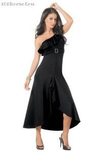 """Черное длинное платье """"Ампир"""""""