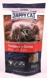 Happy Cat Лакомые подушечки с говядиной и солодом 50гр