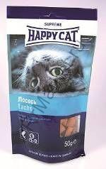 Happy Cat Лакомые подушечки с лососем 50гр