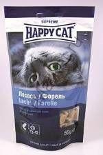 Happy Cat Лакомое угощение с лососем и форелью 50гр