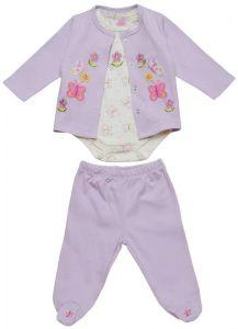 Комплект для девочки состоящий из 3 предметов: кофта, боди и штанишки