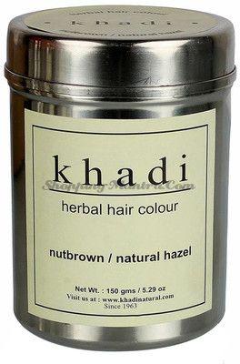 Натуральная растительная краска для волос орехово-коричневый (Khadi Herbal Hair Color- Nut Brown)