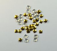 Украшение для ногтей - квадрат золото 3мм (50 шт)