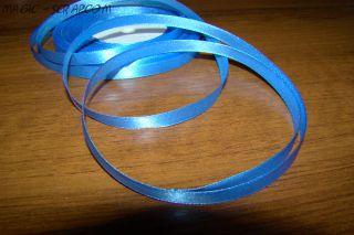 Лента атласная голубая