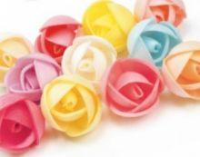 Вафельный цветок ПИОНЫ простые микс 2,4см 5шт/уп
