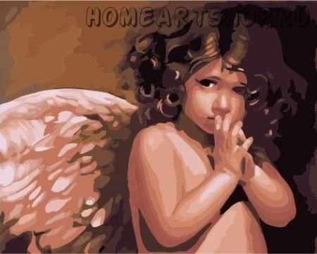 """Картина по номерам """"Ангелочек """""""