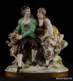 Старинная Романтическая пара,  Wilhelm Greiner und Carl Holzapfel, Германия, 1804-1815 гг