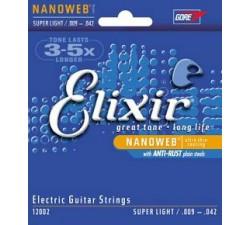 ELIXIR 12002 NanoWeb (009-042) Струны для электрогитары