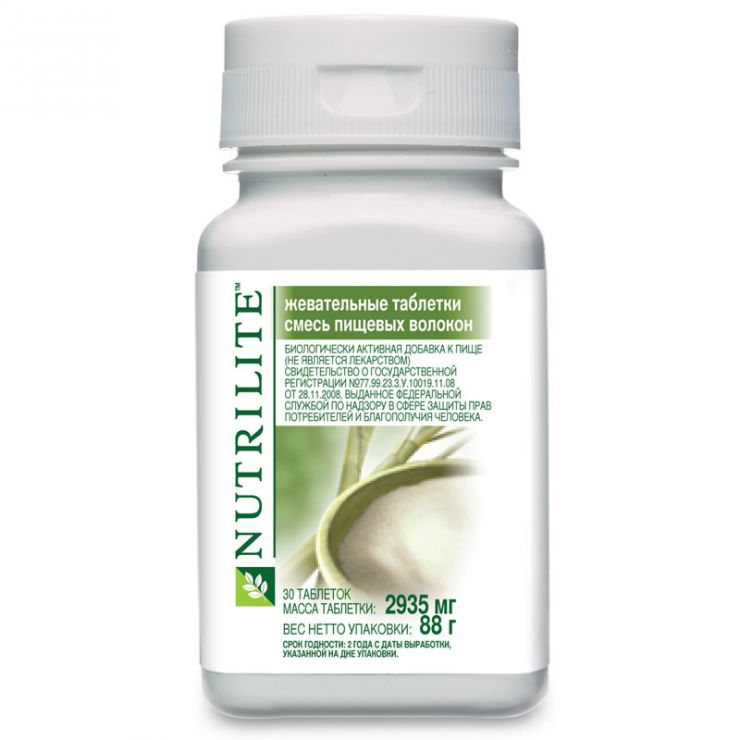 NUTRILITE жевательные таблетки смесь пищевых волокон