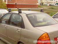 Багажник на крышу на Suzuki Liana (Атлант, Россия), прямоугольные дуги