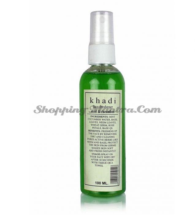 Освежающий спрей для лица Огурец&Мята Кхади (Khadi Mint&Cucumber Face Freshener)