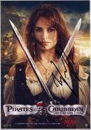 Автограф: Пенелопа Крус. Пираты Карибского моря