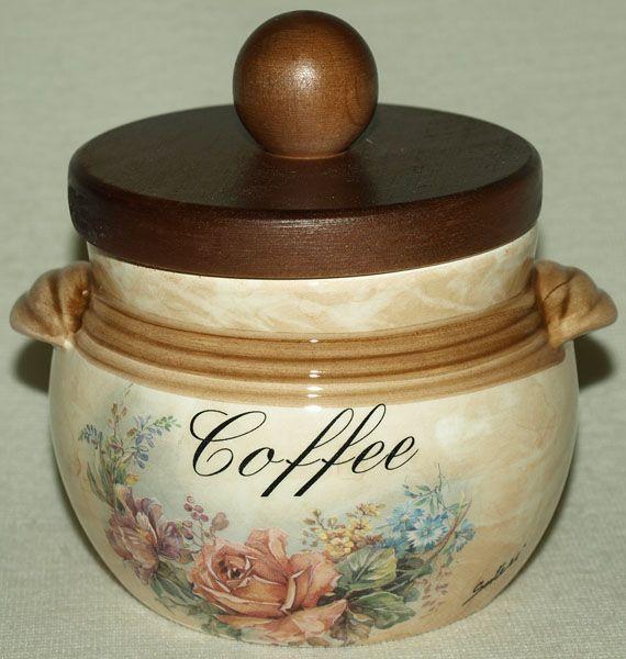 """Банка для сыпучих продуктов с деревянной крышкой  0,5 л. (кофе)  """"Элианто"""""""