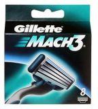 Сменные лезвия для бритвы Gillette Mach-3 (8шт)
