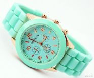 Часы женские с силиконовым ремешком Ganeva
