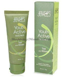 Укрепляющая маска для лица 30+ Соя и Миндаль Джовис   Jovees Youth Active Face Pack