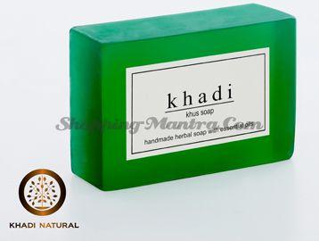 Мыло с натуральными эфирными маслами Ветивер (2шт.) (Khadi Herbal Khus Soap)
