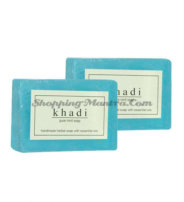 Мыло с натуральными эфирными маслами Мята (2шт.) (Khadi Herbal Mint Soap)