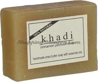 Мыло с маслом ши и эфирными маслами Корица&Пачули (Khadi Cinnamon Patchouli Soap)