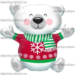 """Шар  """"Мишка с шарфом"""" 109 см"""