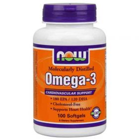 NOW Omega-3 (100 капсул)