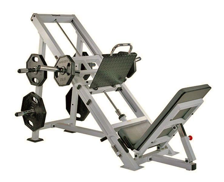 Жим ногами (угол 45). Силовой тренажер JOHNS Club line CT 2046D. На свободных весах. Профессиональный