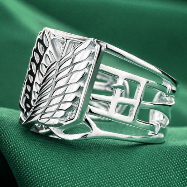"Серебряное кольцо ""Shingeki no Kyojin"""