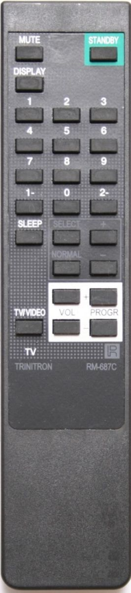 Пульт для Sony RM-687C (TV) (KV-1434M3, KV-1484GE, KV-1484MT, KV-1670MT, KV-1970M3, KV-1970MT, KV-1984GE, KV-1984MT, KV-2114S, KV-2134M3, KV-2170M3, KV-2184MT, KV-2192M3, KV-2194MT, KV-2195M3, KV-21GPX, KV-2551, KV-2553MT, KV-2553S, KV-2584MT )