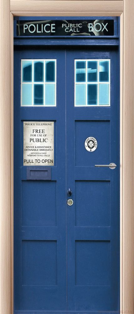 наклейка на дверь - Police Box