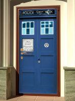 Наклейка на дверь - Police Box | магазин Интерьерные наклейки