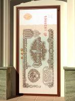 Наклейка на дверь - Рубль | магазин Интерьерные наклейки
