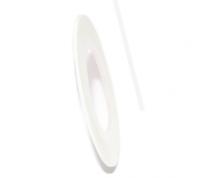 Декоративная самоклеющаяся лента (0,8 мм) №12 Цвет: белый матовый