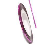 Декоративная самоклеющаяся лента (0,8 мм) №22 Цвет: розовый голограмма
