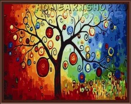 """Картина по номерам """"Древо богатства"""" 40х50"""