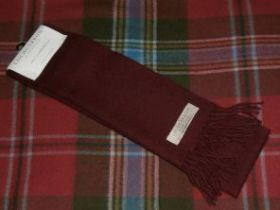 шарф 100% шерсть , расцветка Wine Вайн (винный цвет)