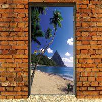 Виниловая наклейка на дверь - Море
