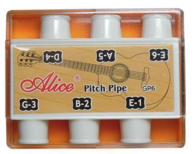 ALICE A001 Камертон духовой на 6 нот пластиковый в пластиковой коробочке