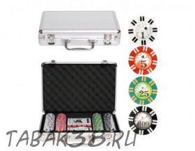 Покерный набор Royal Flush на 200 ф. кейс (фишки 11,5г номинал 5300)