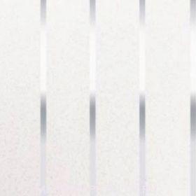 Закрывающий, пристенный П-профиль, B19, жемчужно-белая с хромированной полосой