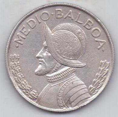 1/2 бальбоа 1962 г. редкий год. Панама