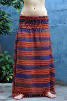 Тёплая длинная оранжевая юбка в пол на зиму