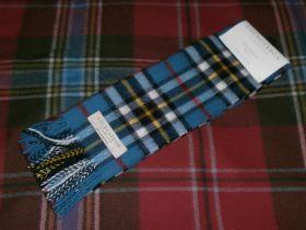 шарф 100% шерсть , расцветка клан Томсон  Синий вариант Thomson Blue