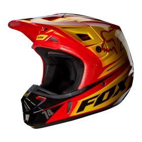 Мотошлем Fox Racing V2 Race Helmet ECE red/yellow
