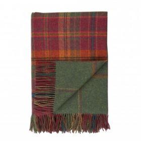 плед шотландский двусторонний, 100 % стопроцентная шотландская овечья шерсть, расцветка Данун Danoon, плотность 10