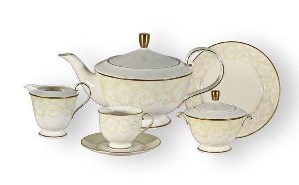 """Чайный сервиз на 6 персон """"Версаль (Narumi)"""", 17 пр."""