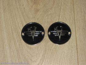 Эмблемы КМЗ никелированные черные